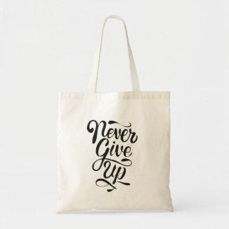 Nunca dê acima o bolsa da indicação da caligrafia