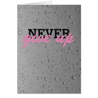 Nunca dê acima o cartão