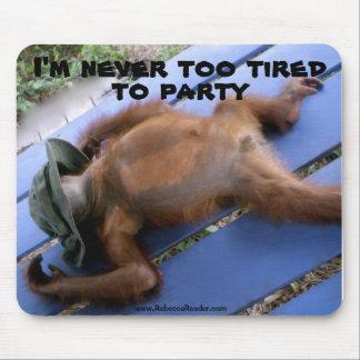 Nunca demasiado cansado ao animal de partido mouse pad
