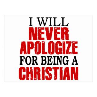 Nunca desculpa-se sendo um cristão cartão postal