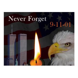 Nunca esqueça 9-11-01 cartão postal