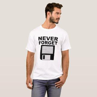 Nunca esqueça a camiseta engraçada de disco
