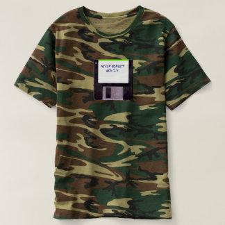 Nunca esqueça a camuflagem de disco flexível camiseta