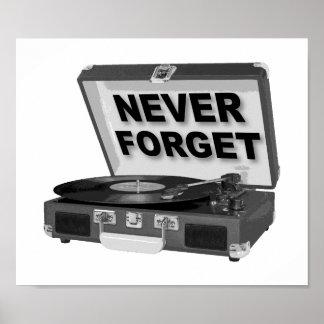 Nunca esqueça o poster engraçado dos registros pôster