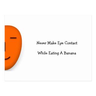 Nunca faça o olho… - Envie um sorriso - cartão