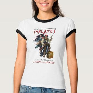 Nunca intrometa com piratas camiseta
