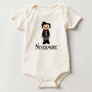 Nunca mais Edgar Allan Poe a camisa do bebê do