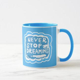 Nunca pare de sonhar a caneca do azul da
