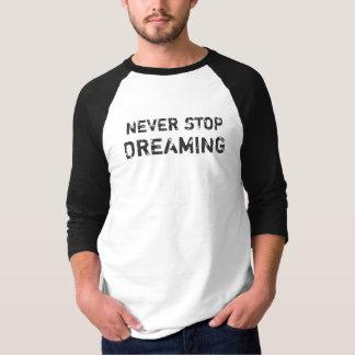 Nunca pare de sonhar o 3/4 de Tshirt básico do Camiseta