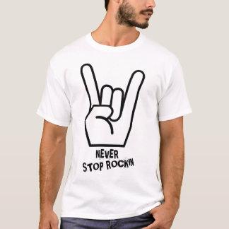 Nunca pare o t-shirt de Rockin Camiseta