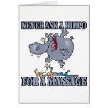nunca peça um hipopótamo uma massagem cartoes