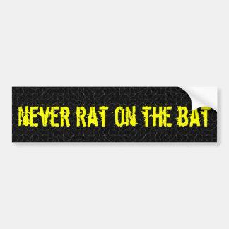nunca rato no bastão adesivo para carro
