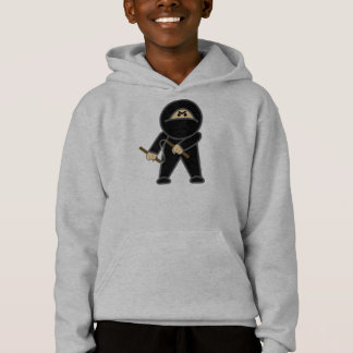 Nunchaku Ninja, o Hoodie do menino escondido do