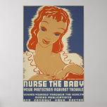 Nutra o poster de WPA do bebê