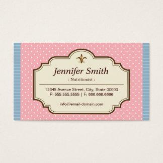 Nutricionista da dietista - bolinhas bonitos cartão de visitas