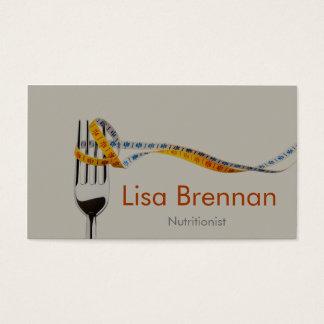 Nutricionista/dietista/doutor/clínica privada cartão de visitas
