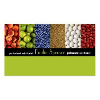 Nutricionista do verde amarelo/cartão saudável da  cartao de visita