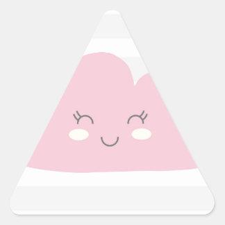nuvem adesivo triangular