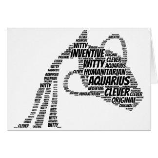 Nuvem da palavra do sinal do zodíaco da astrologia cartão comemorativo