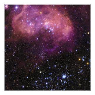 Nuvem da região N11 Magellanic da formação de estr Impressão De Foto