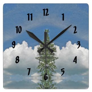 Nuvem macia branca do estilo geométrico relógios de pendurar