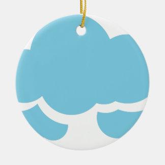 Nuvens azuis ornamento de cerâmica