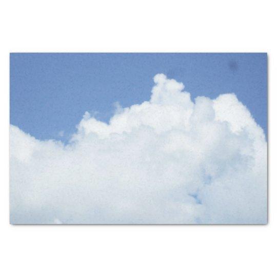 Nuvens brancas macias papel de seda
