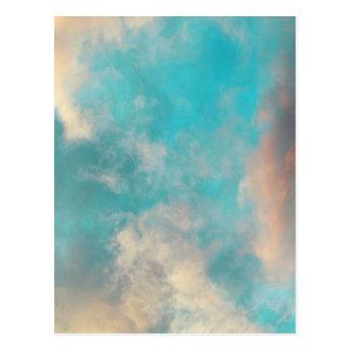 Nuvens do céu azul da cerceta cartao postal
