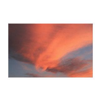 Nuvens do por do sol