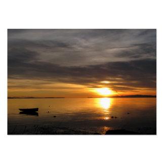 Nuvens do por do sol cartão de visita grande