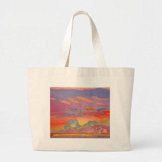 Nuvens do por do sol de Riviera, customizáveis Sacola Tote Jumbo