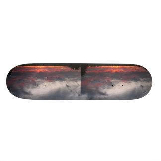 Nuvens na noite shape de skate 21,6cm