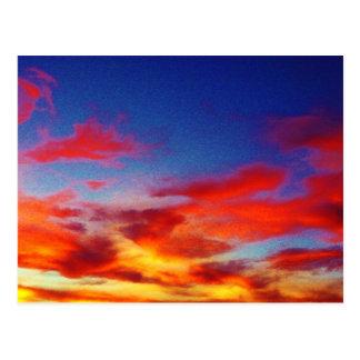 Nuvens românticas cartão postal