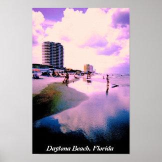Nuvens roxas em Daytona Beach Pôster