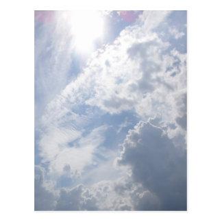 Nuvens sobre o cartão de PEI