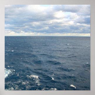 Nuvens sobre o impressão de Bermuda