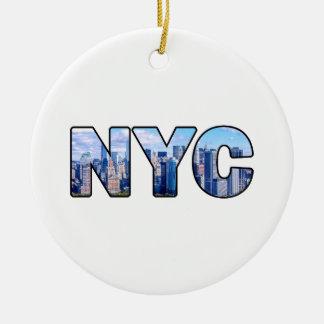 NYC ORNAMENTO DE CERÂMICA REDONDO