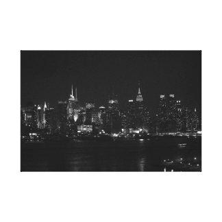 NYC preto e branco Impressão Em Tela