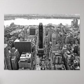 NYC preto e branco Photoraph Pôster