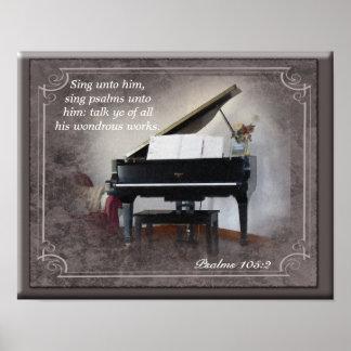O 105:2 dos salmos canta até ele - o impressão da