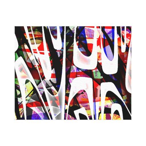 O 14os - Abstrato Impressão Em Tela