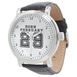 O 29 de fevereiro nascido relógio
