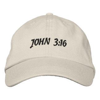 O 3:16 de John bordou o chapéu Boné Bordado