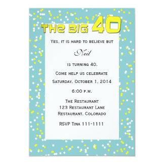 """""""O 40"""" GRANDE convite do aniversário de 40 anos"""