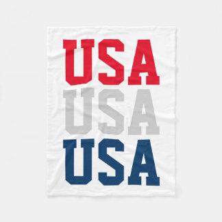 O 4ns patrióticos do partido EUA de julho tosam Cobertor De Lã