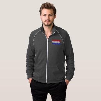 O 4o da jaqueta americana da trilha dos homens de