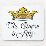 o 50th aniversário a rainha é 50! mousepad