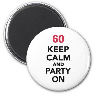 o 60th aniversário mantem a calma e o partido ima