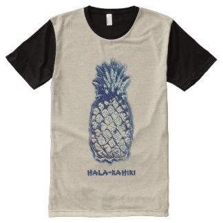 O abacaxi acena por Aleta Camisetas Com Impressão Frontal Completa