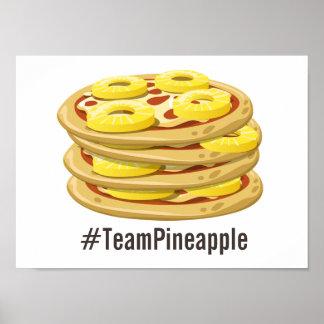 O abacaxi pertence no poster da pizza